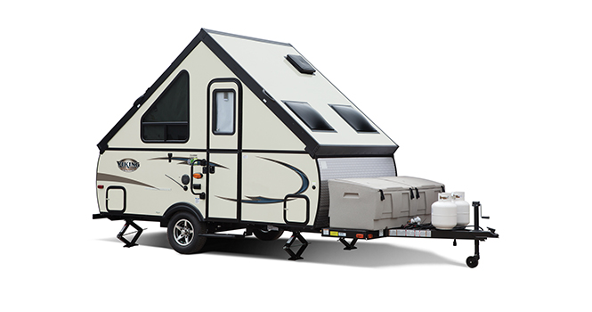 picture of a coachmen viking hardside travel trailer that will be for sale at the ohio rv show, rv show, ohio rv show at the ix center in cleveland ohio