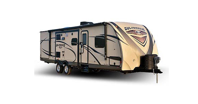 picture of a gulf stream gulf breeze that will be for sale at the ohio rv show, rv show, ohio rv show at the ix center in cleveland ohio
