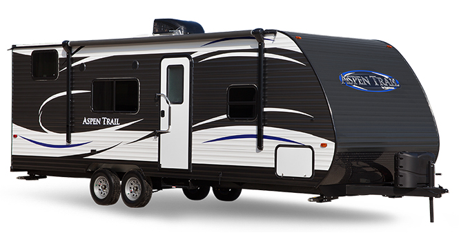 picture of a dutchemn aspen trail travel trailer that will be for sale at the ohio rv show, rv show, ohio rv show at the ix center in cleveland ohio