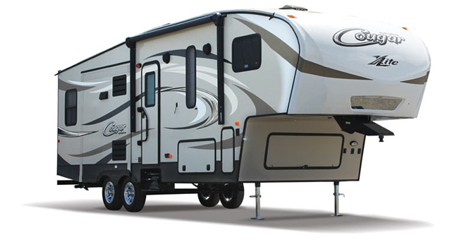 picture of a keystone cougar x-lite fifth wheel that will be for sale at the ohio rv show, rv show, ohio rv show at the ix center in cleveland ohio