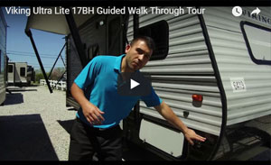thumbnail picture for the guided video walk through of the viking ultra lite 17bh
