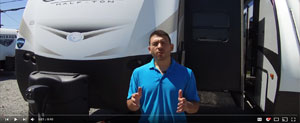 picture of chris giving a guided walk through rv tour for rv videos