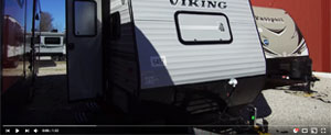 screen shot of the rv video for a viking travel trailer from youtube playlist