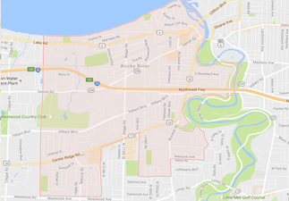 rvs for sale near rocky river ohio, picture of rocky river ohio on a map