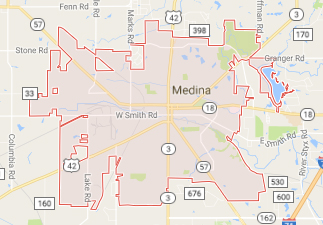 rvs for sale near medina ohio, picture of medina ohio on a map