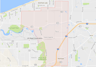 rvs for sale near sheffield ohio, picture of sheffield ohio on a map