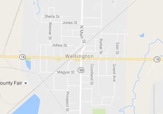 rvs for sale near Wellington ohio, picture of wellington ohio on a map