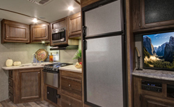 shops rvs with front kitchen, picture of a rv with a front kitchen, picture of a rv kitchen in the front of the trailer