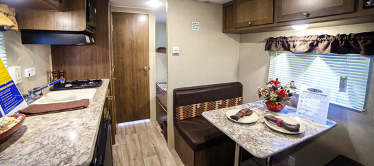 travel trailers under $15000, picture of the inside of a travel trailer that cost under $15000