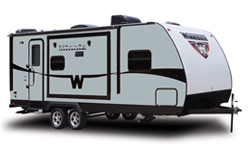 Winnebago Minnie, picture of the exterior of a winnebago minnie travel trailer