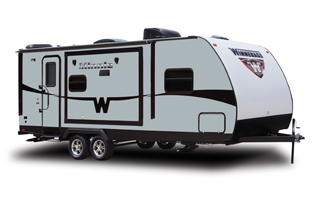 winnebago travel trailers, picture of a winnebago travel trailer, winnebago travel trailer with a white background