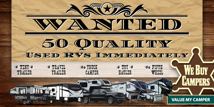 WANTED NOW USED RV