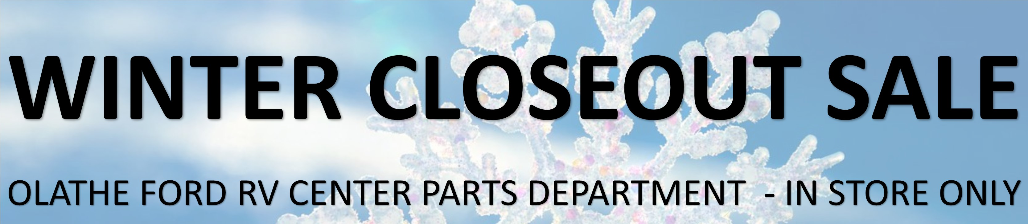 Parts Dept Winter Closeout