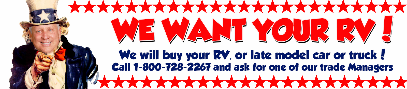We Want Your RV