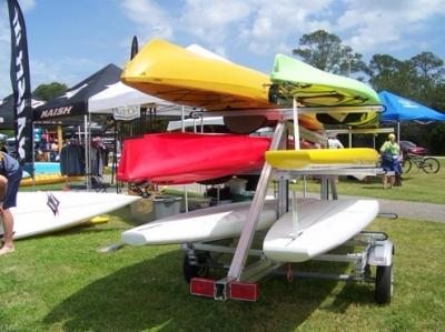 railex SUT-450-M6 aluminum 6 Kayak / SUP Trailer Ships everywhere via FedEx Ground Primo Trailer Sales