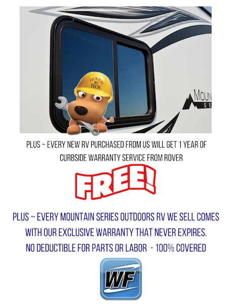 Free Curbside Service and RV Warranty Forever