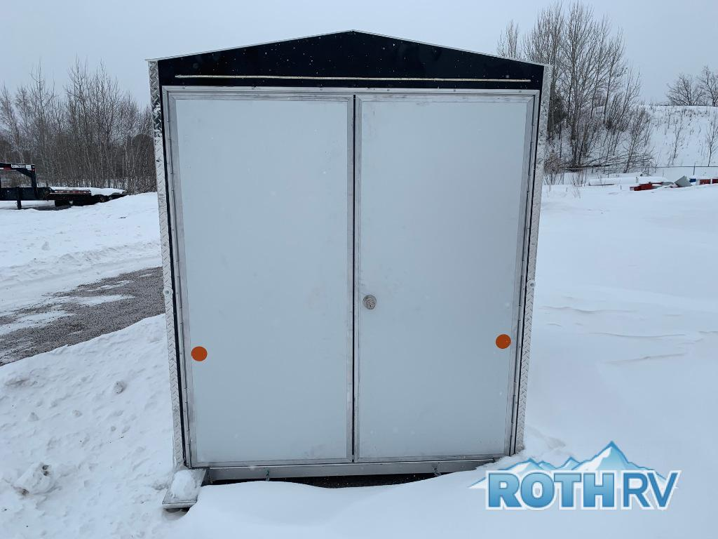 New 2019 Trek Manufacturing Ice Trek 6x10 Black Fish House at Roth Fish House Double Door on