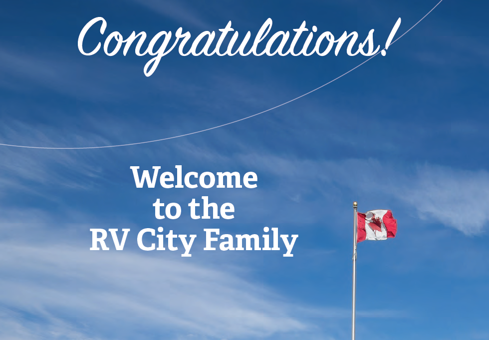 Congratulations on the purchase of your New Jayco RV from RV City
