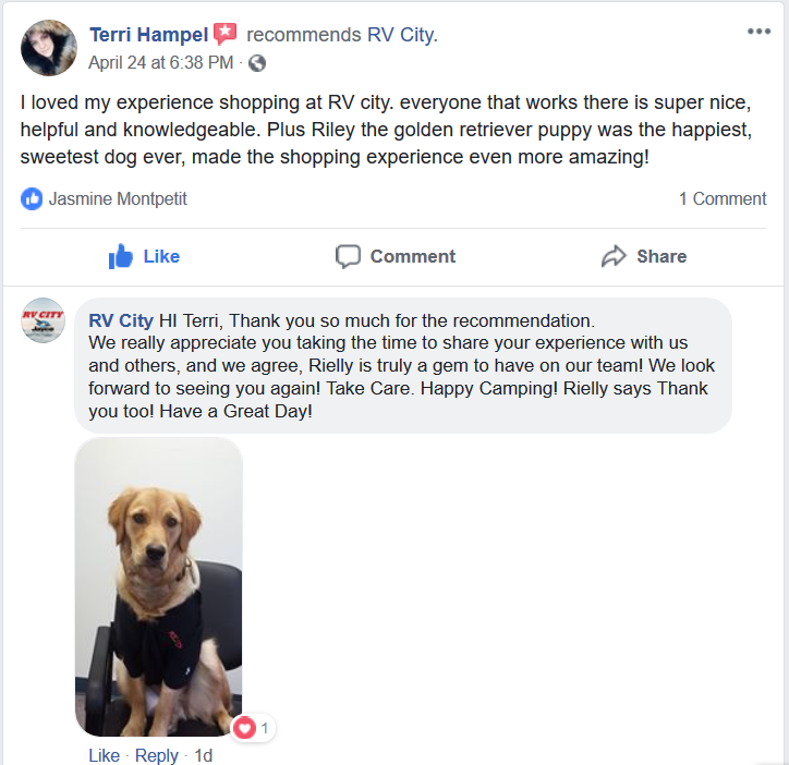 Terri Hampel Recommends RV City on Facebook