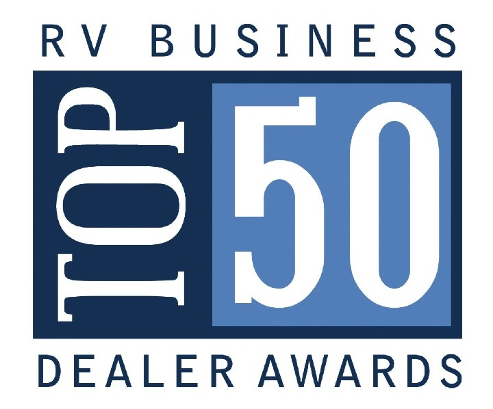 RV City is proud to be named one of the Top 50 Dealers in North America - 2014 and 2016 - RV Business Top 50 Dealer Awards
