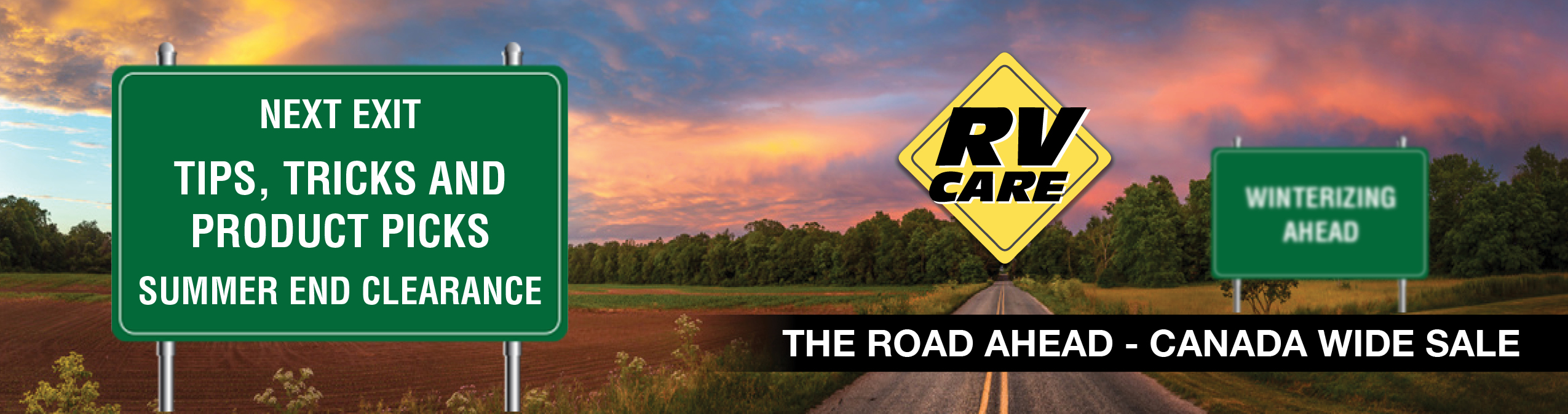 RV Care Summer End Clearance Sales Event Sept 8 to Oct 31, 2018