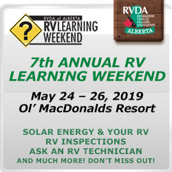 7th Annual RV Learning Weekend May 24 - 26, 2019