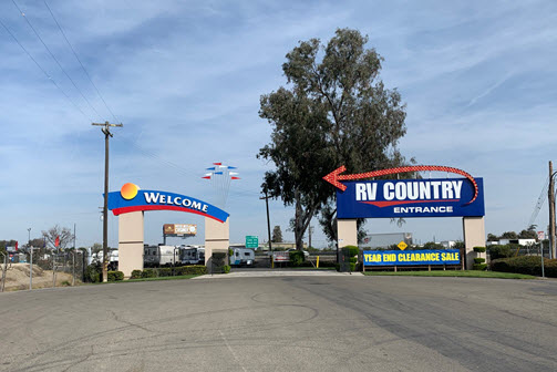 RV Country Fresno Entrance