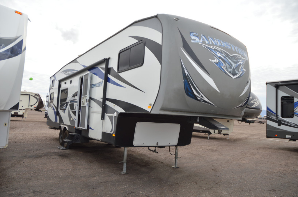Used 2016 Forest River Rv Sandstorm F335gslr Toy Hauler