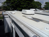 RV roof leak seal job