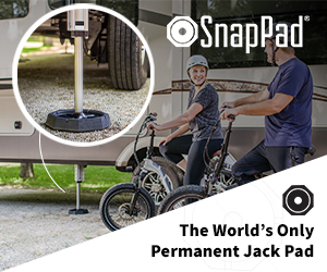 RV Snap Pads, The World's Only Permanent Jack Pad.
