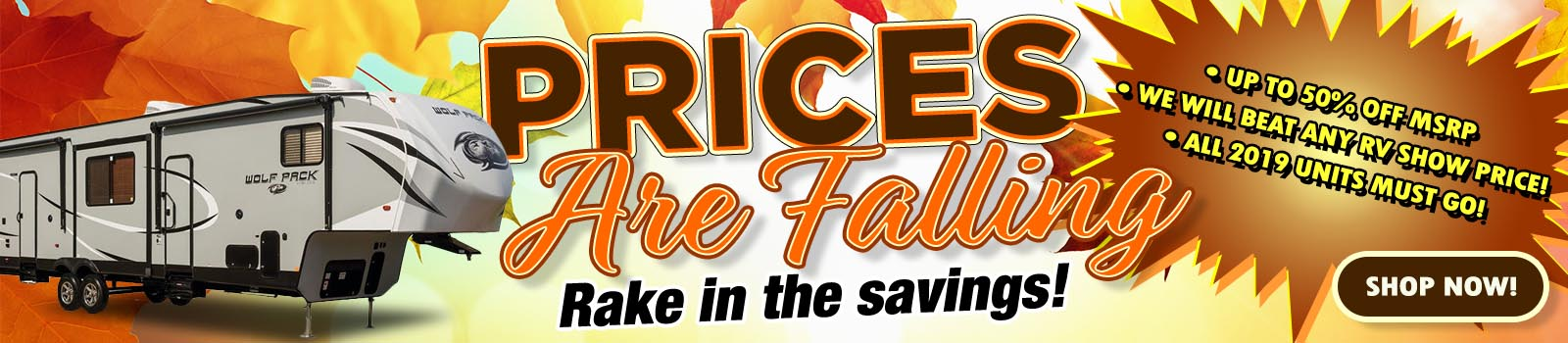Prices Are Falling - Rake in the savings!
