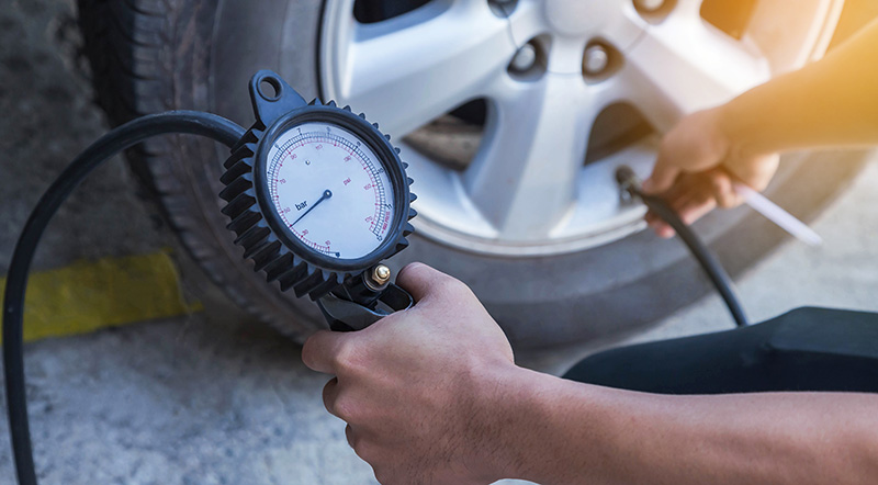 Pumping air in tire