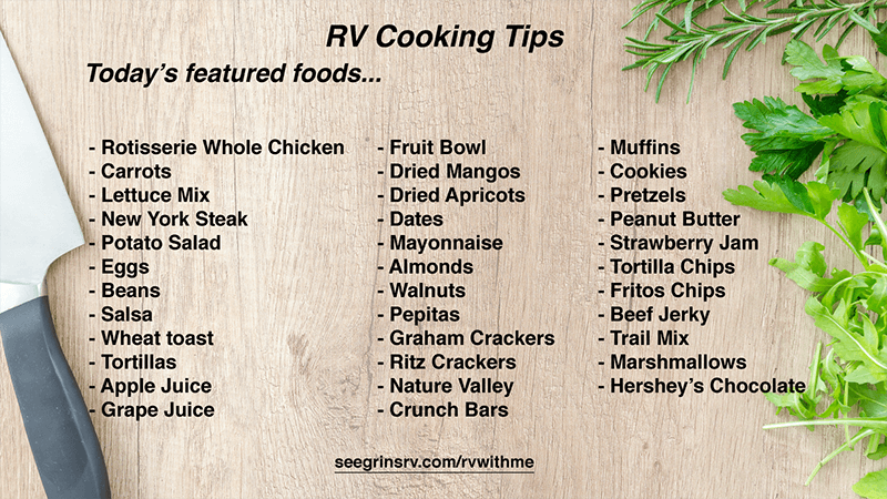 RV Cooking Tips
