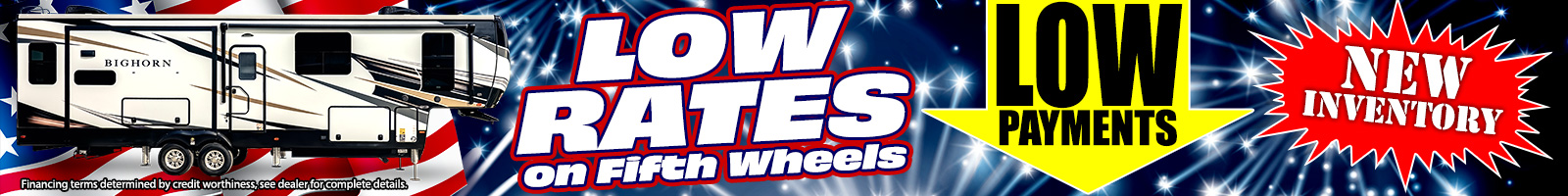 Low Rates On Fifth Wheels