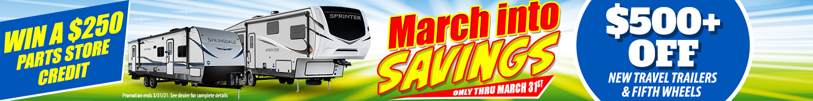 March Into Savings