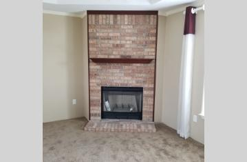 REAL Brick Fireplace