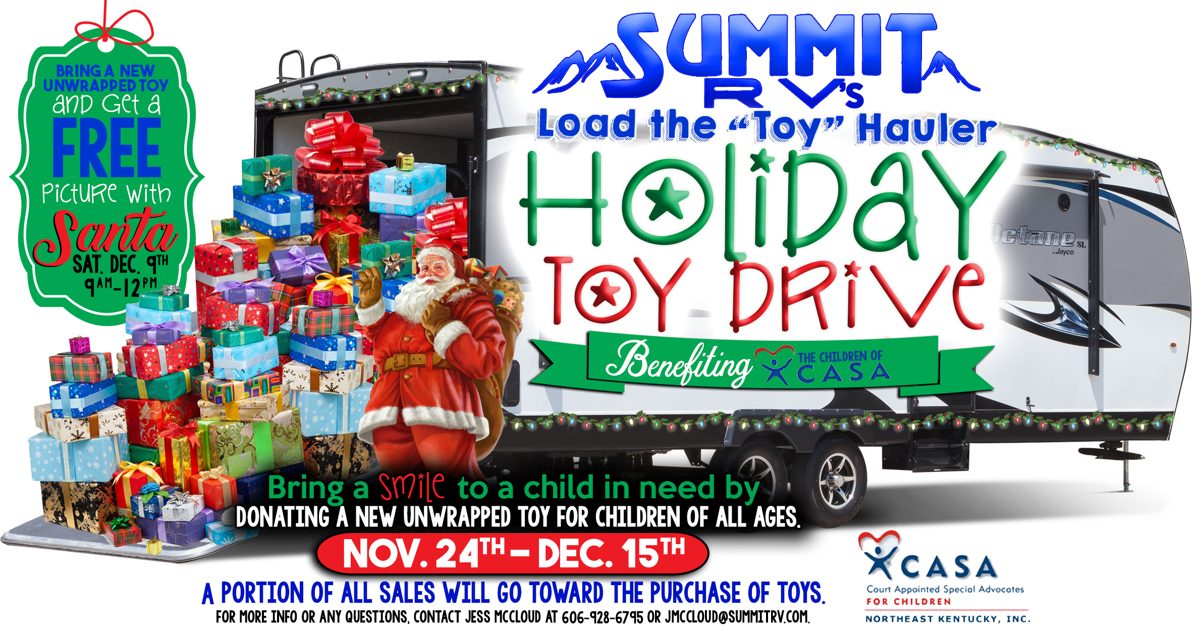 Summit RV Holiday Toy Drive