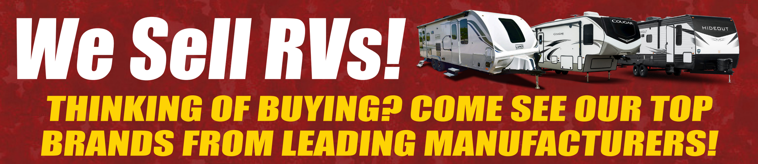 We sell RVs