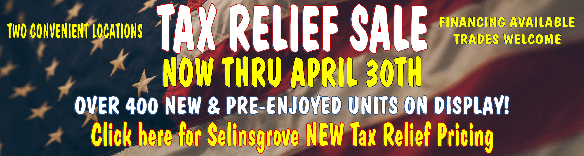 Tax Relief Sale