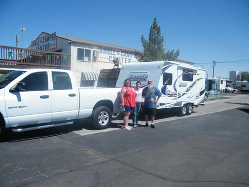 SOME FRIENDS FROM CALIFORNIA AND THEIR NEW CAMPER