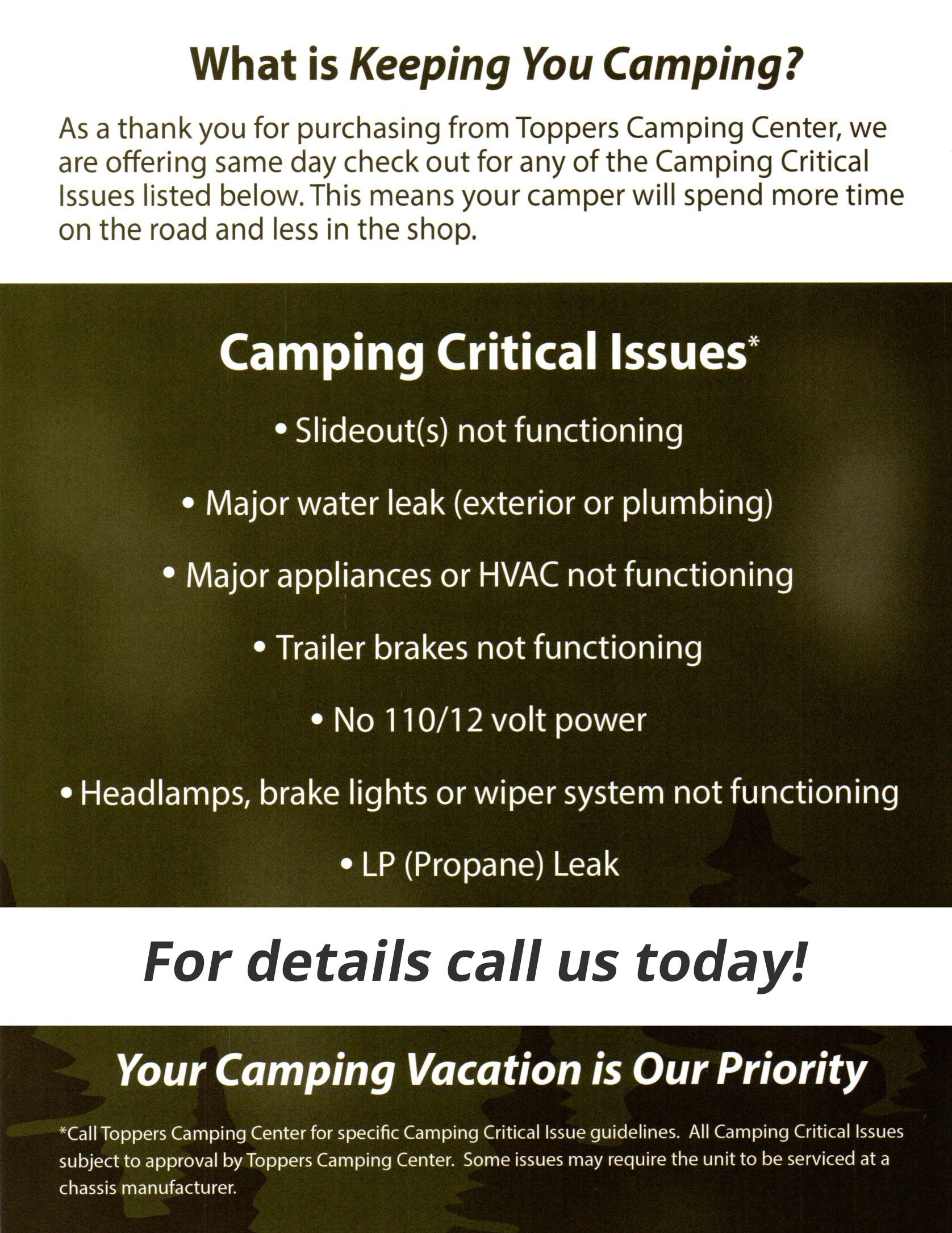 We Keep You Camping