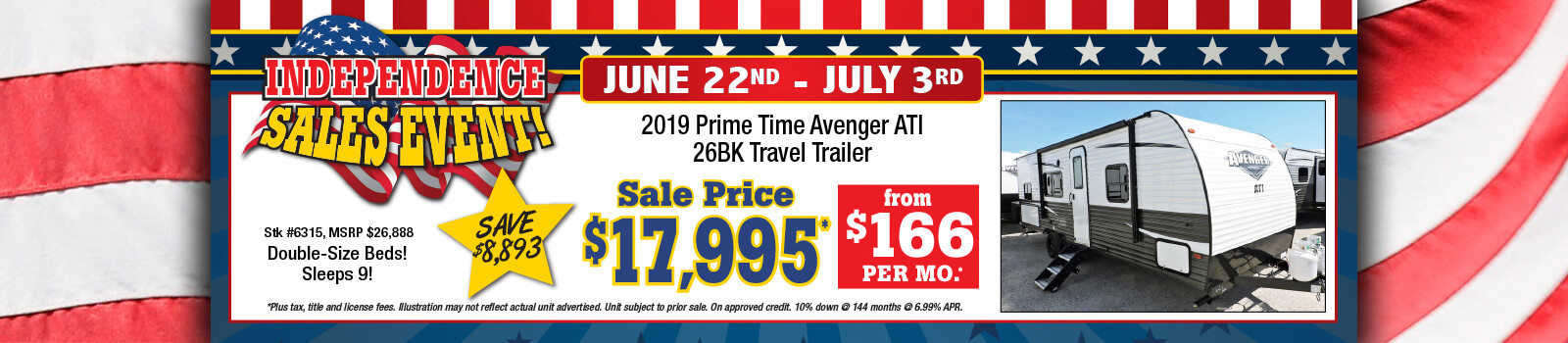 Independence Sale Event - Prime Time Avenger