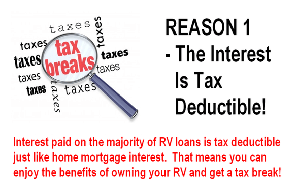 Reason 1 - The interest is tax deductible!
