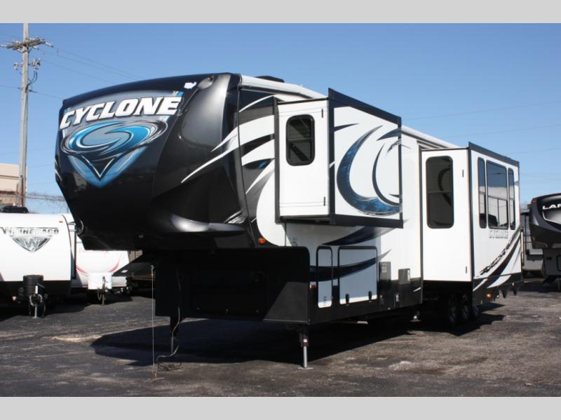 used 2015 heartland cyclone 4100 king toy hauler fifth. Black Bedroom Furniture Sets. Home Design Ideas