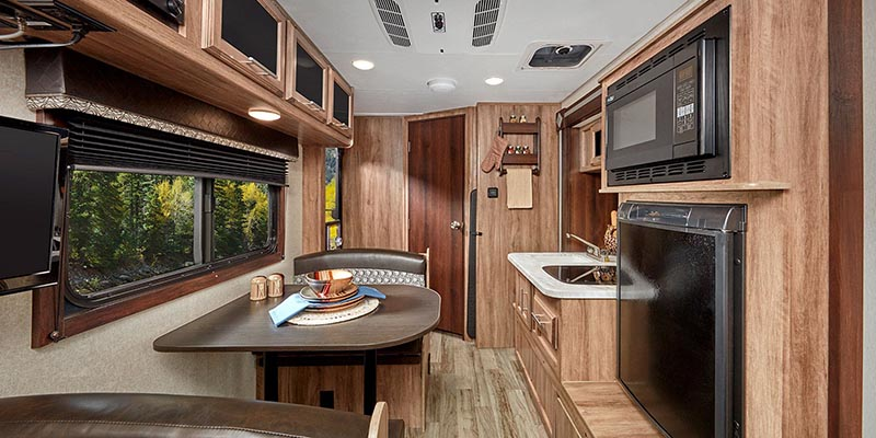 Inside Jayco Hummingbird Travel Trailer