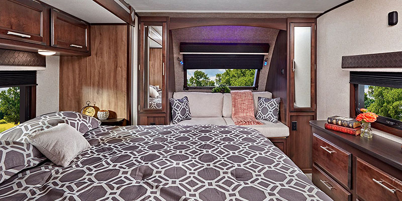 Jayco White Hawk Travel Trailer Bedroom