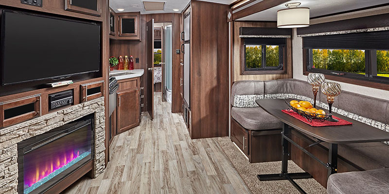 Inside Jayco White Hawk Travel Trailer