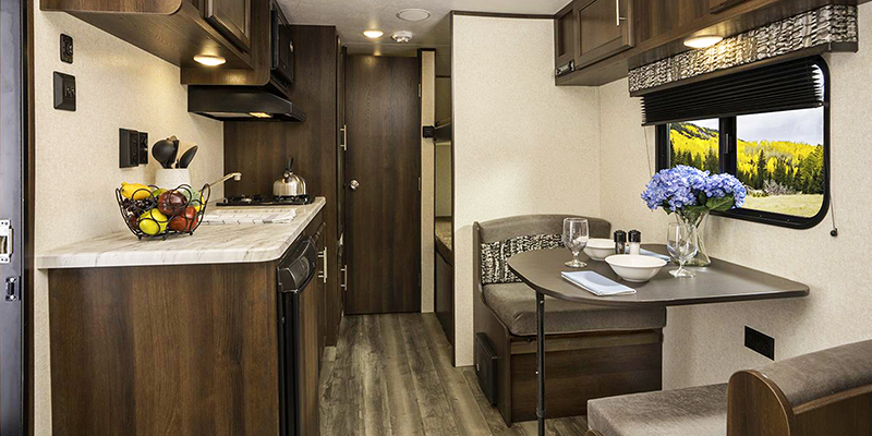 Inside Jayco Jay Flight SLX 7 Travel Trailer