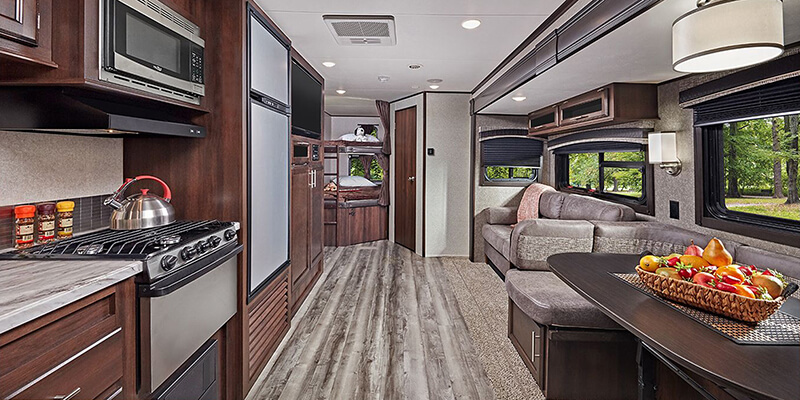Inside Jayco Jay Flight Travel Trailer