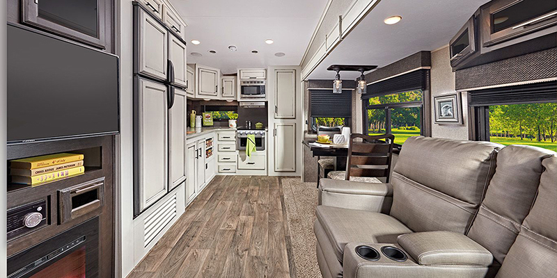 Inside Jayco Eagle HT Fifth Wheel